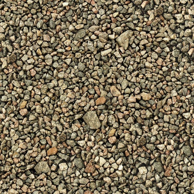 Texture sans couture de blocaille en pierre grise de granit image libre de droits