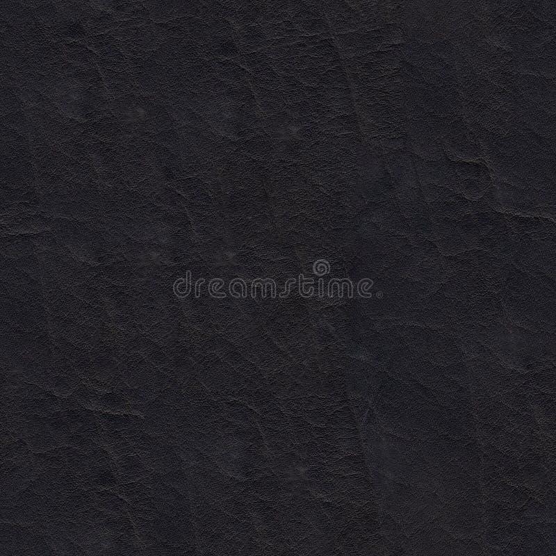 Texture sans couture de cuir noir naturel photographie stock libre de droits