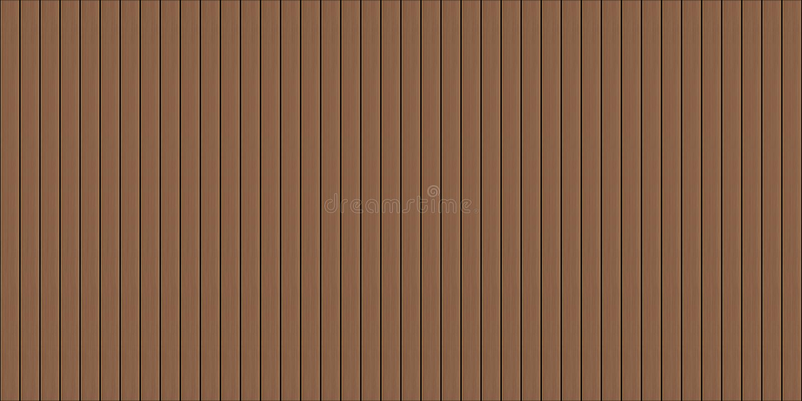 Texture sans couture de decking en bois illustration libre de droits