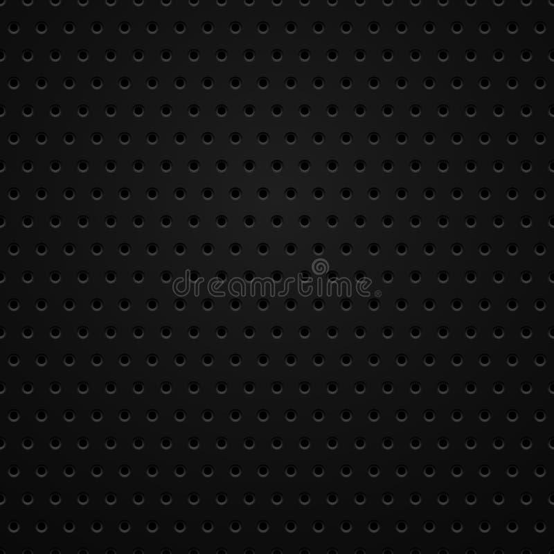 Texture sans couture de fibre de carbone de vecteur illustration stock