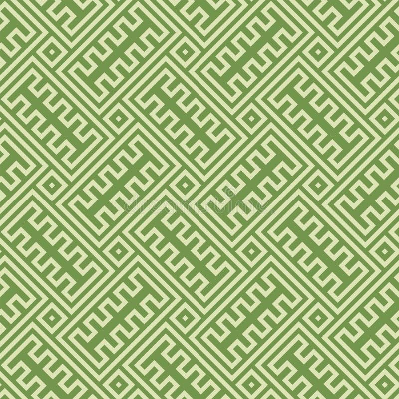 Texture sans couture de fond d'infini principal grec illustration stock