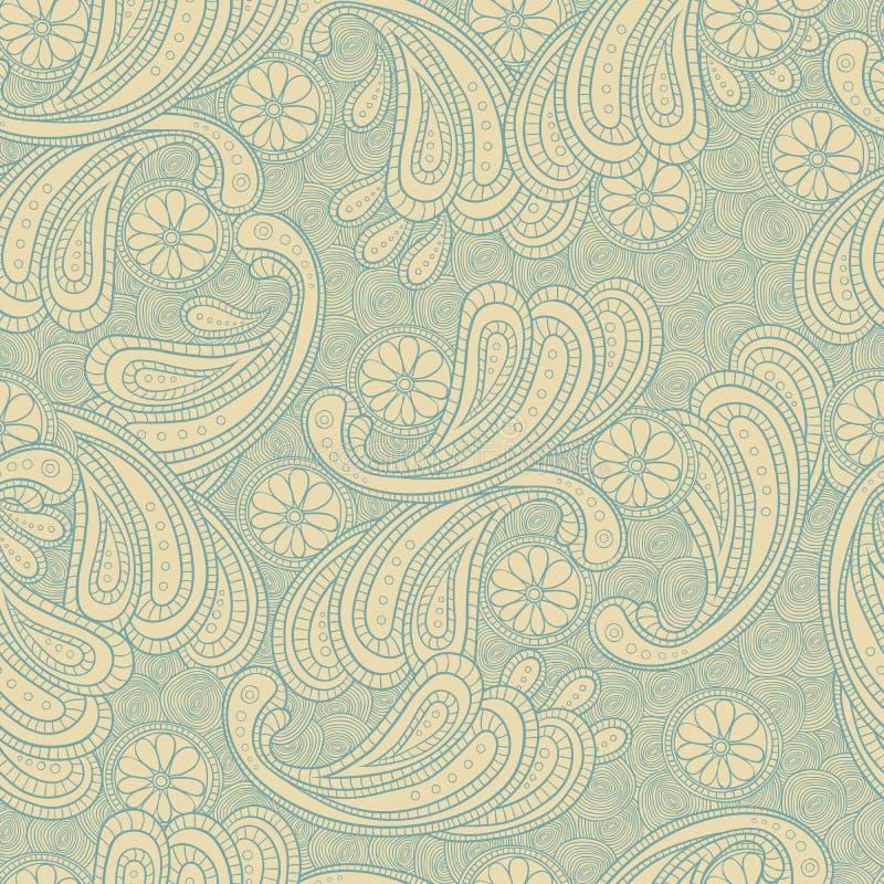 Texture sans couture de fond de griffonnage floral images stock