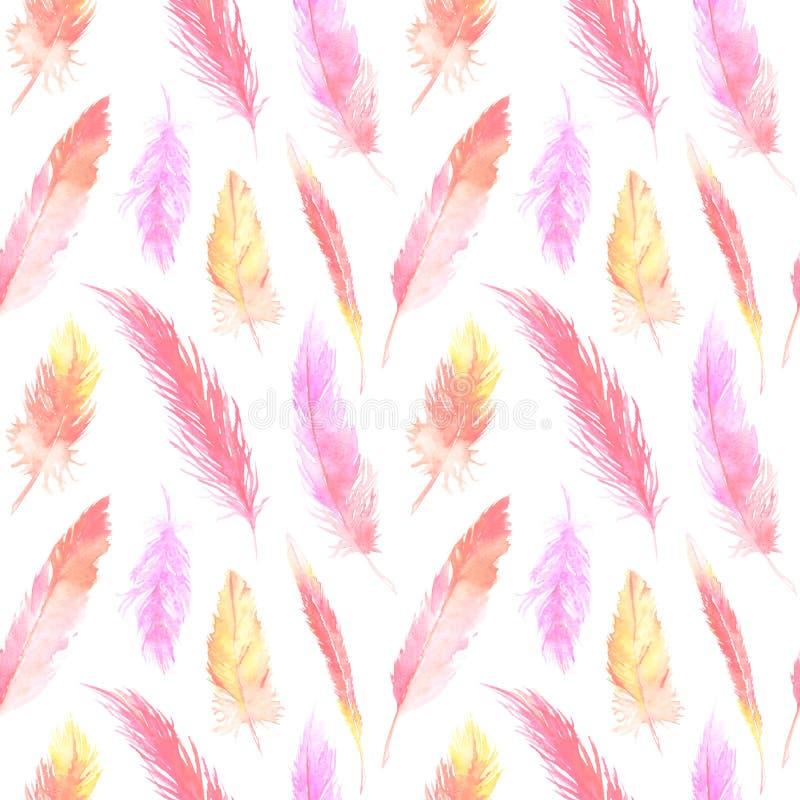 412a7c85458b3 Texture Sans Couture De Fond De Modèle De Plume Colorée D ..