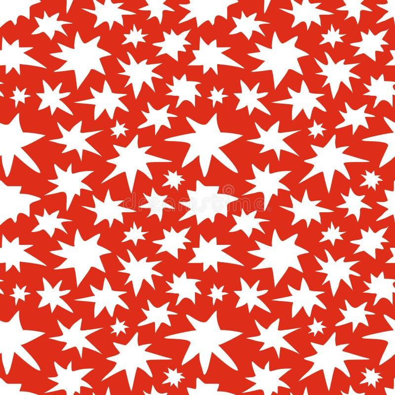 Texture sans couture de griffonnage de modèle d'étoiles de résumé illustration libre de droits