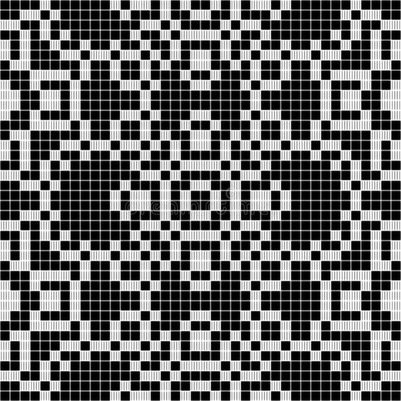 Texture sans couture de modèle de dentelle de rideau - noire et blanche illustration de vecteur