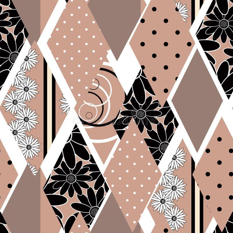 Texture sans couture de modèle de patchwork sur le fond blanc photos libres de droits