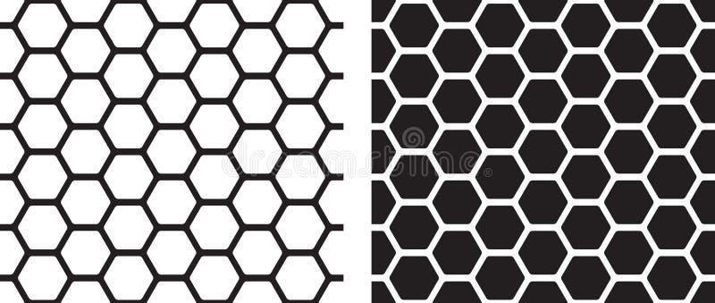 Texture sans couture de nid d'abeilles illustration libre de droits