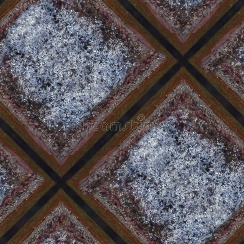 Texture sans couture de photo des tuiles en bois avec de la glace le jour de gel photographie stock libre de droits