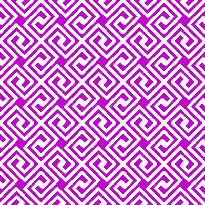 Texture sans couture de places grecques géométriques illustration stock