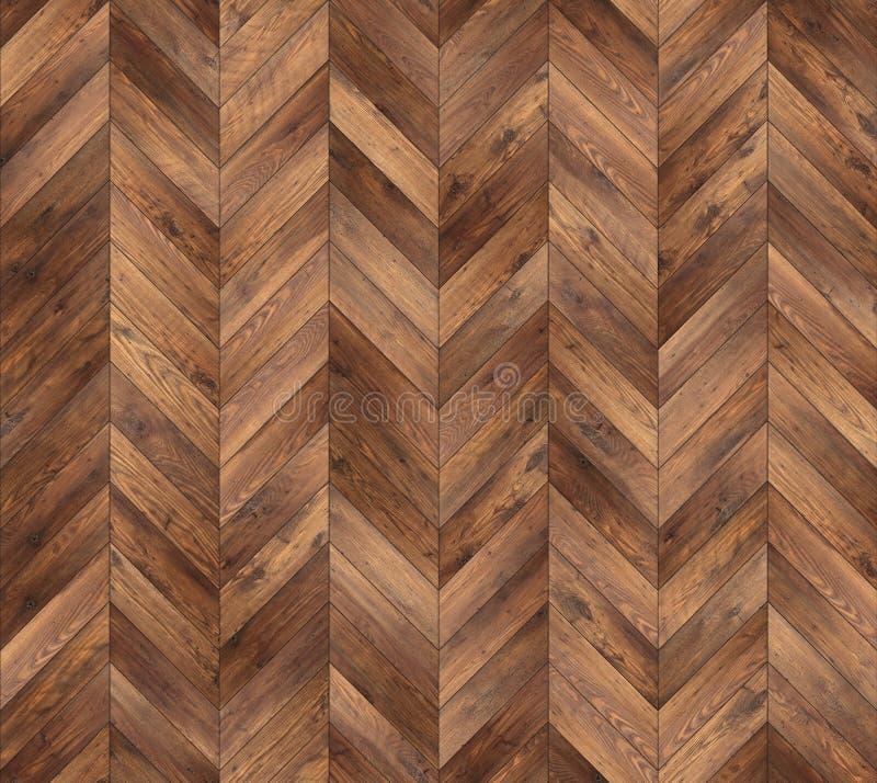 Texture sans couture de plancher de parquet naturel de Chevron image libre de droits