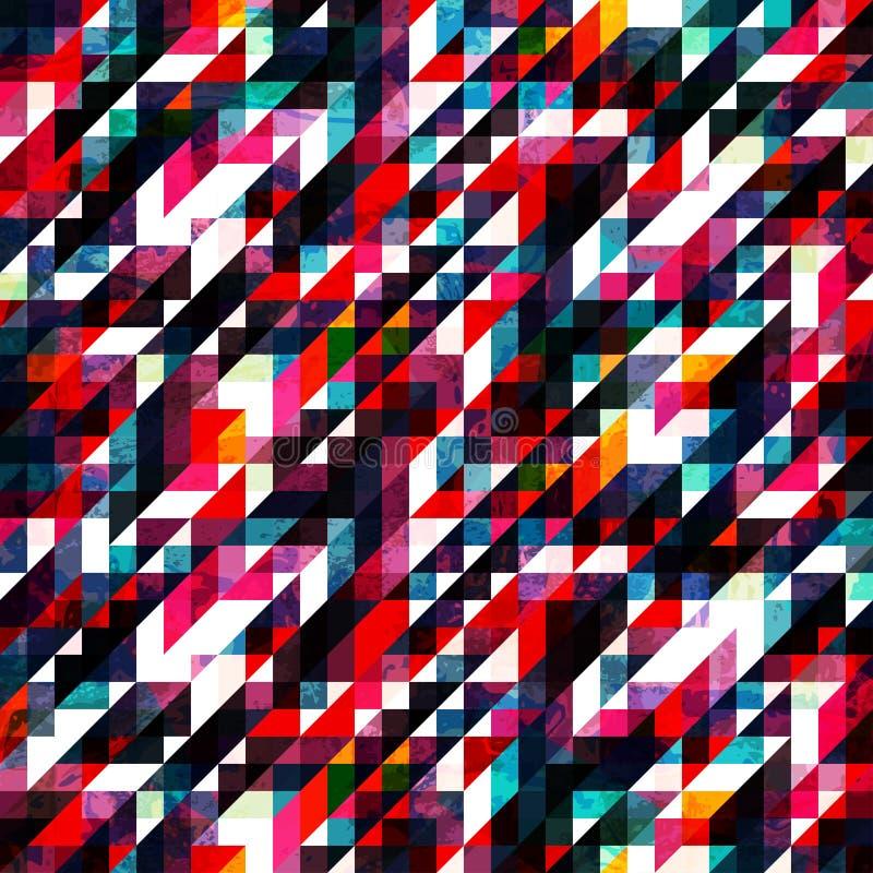 Texture sans couture de rétro pixel rouge illustration stock