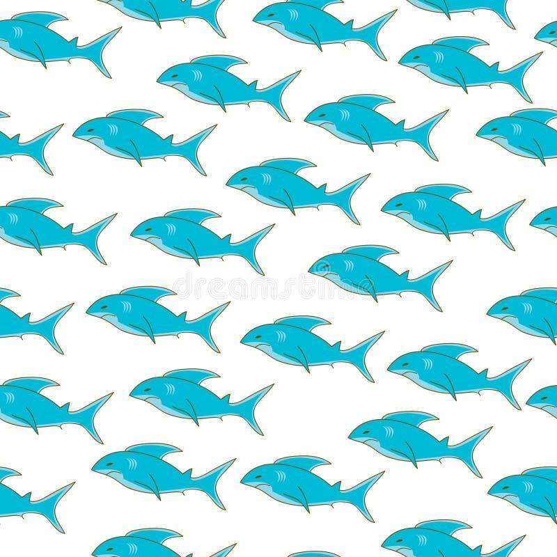 Papier peint de requin illustration stock. Illustration du clip - 7217325