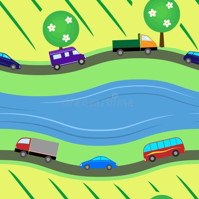 Texture sans couture de routes illustration stock