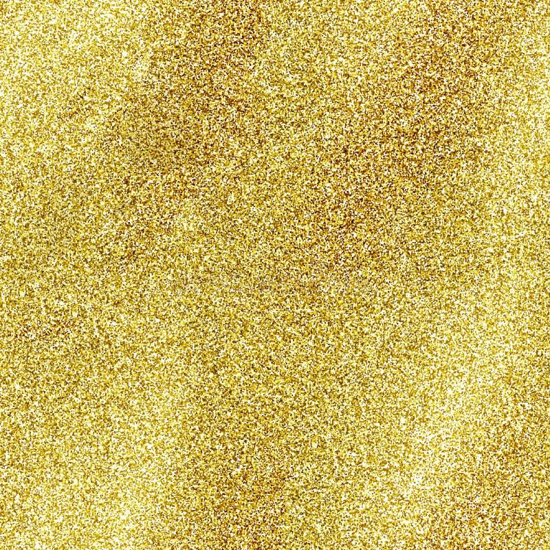 Texture sans couture de scintillement d'or d'isolement sur le fond d'or Bling jaune de tresse de paillette d'étincelle image libre de droits