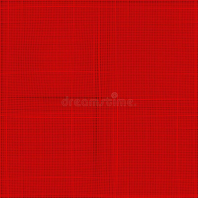 Texture sans couture de toile rouge à employer comme fond, texture, masque ou bosse Configuration sans joint de vecteur Vecteur E illustration libre de droits