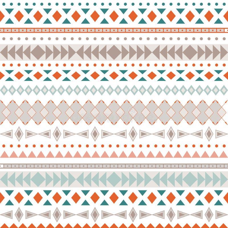 Texture sans couture de tribal de vecteur Modèle tribal de vecteur illustration libre de droits