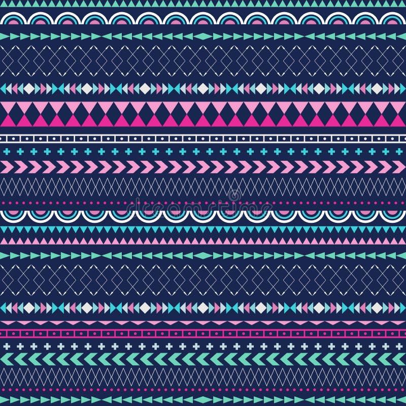 Texture sans couture de tribal de vecteur Modèle tribal de vecteur illustration stock