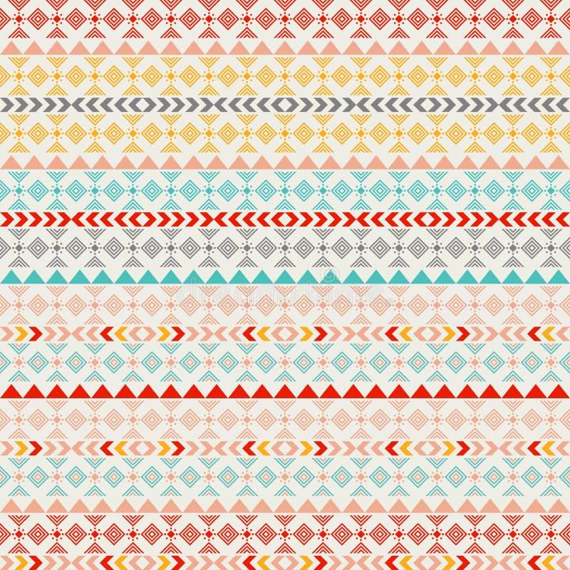 Texture sans couture de tribal de vecteur Texture sans couture tribale Contexte sans couture ethnique de vintage Rayures de Boho  illustration libre de droits