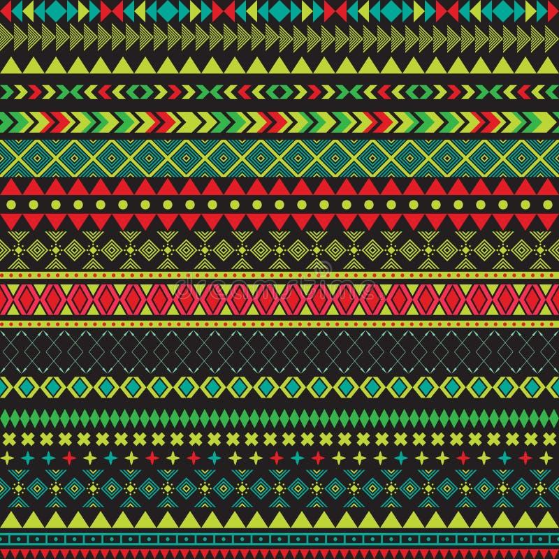 Texture sans couture de tribal de vecteur Texture sans couture tribale Contexte sans couture ethnique de vintage Rayures de Boho  illustration stock