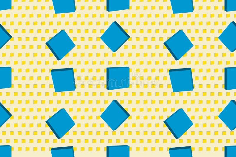 Texture sans couture de vecteur avec des cubes Fond moderne illustration de vecteur