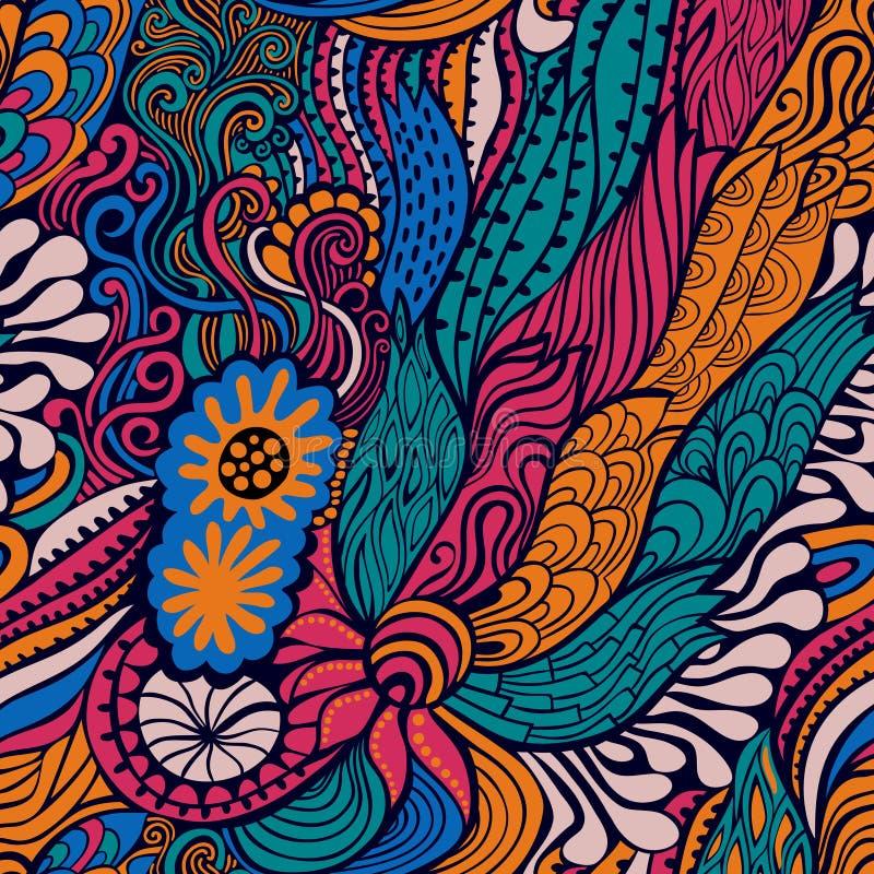 Texture sans couture de vecteur avec les fleurs abstraites Backgroun sans fin illustration de vecteur