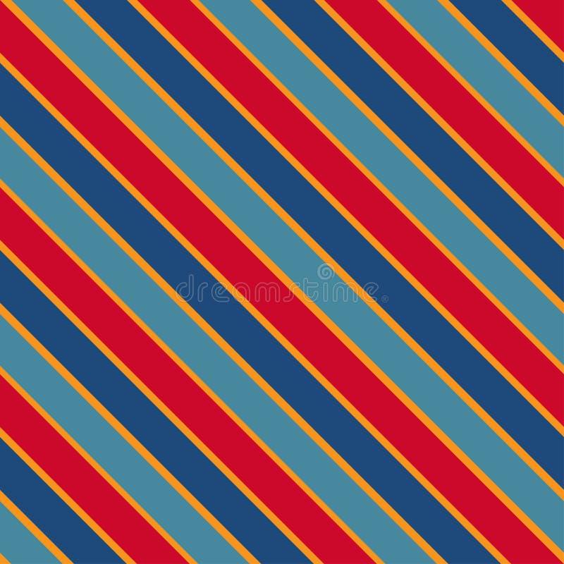 Texture sans couture de vecteur avec les lignes colorées slated illustration stock