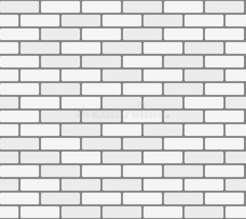Texture sans couture de vecteur blanc de mur de briques illustration de vecteur