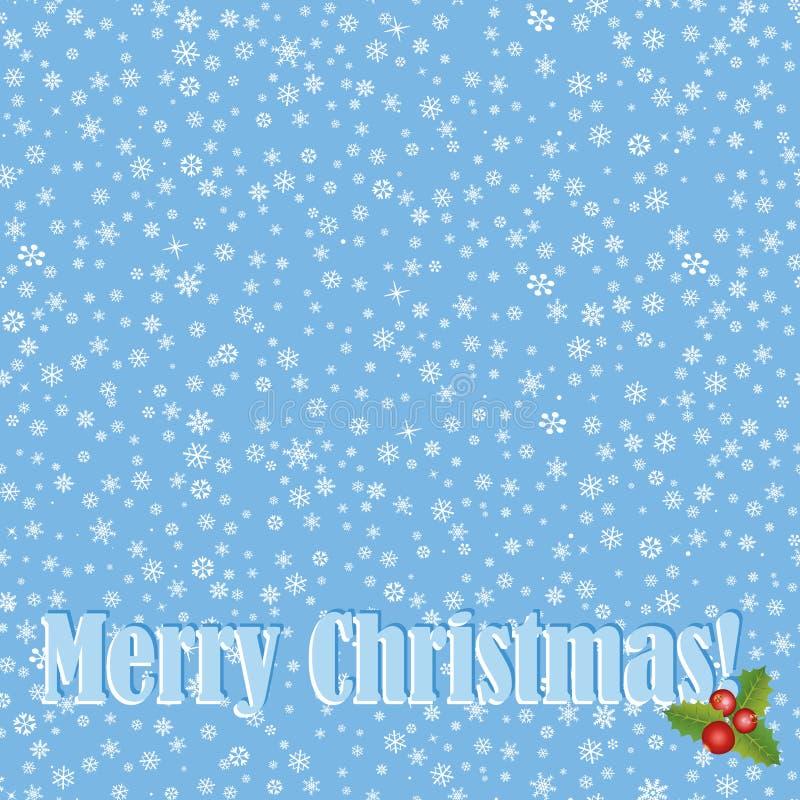 Texture sans couture de withsnow de carte de Noël, fond de Noël avec l'espace de copie. illustration de vecteur