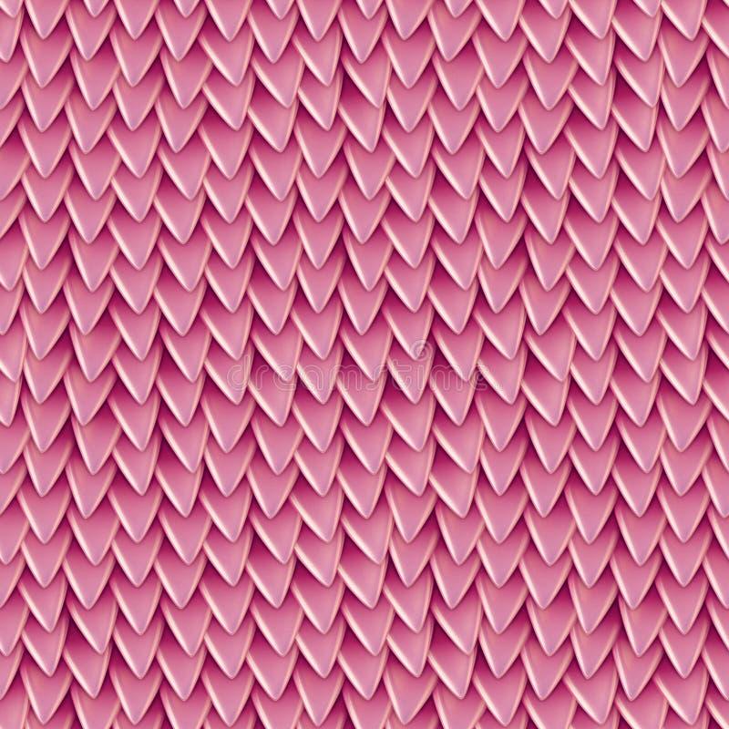 Texture sans couture des échelles métalliques de dragon Modèle de peau de reptile illustration libre de droits