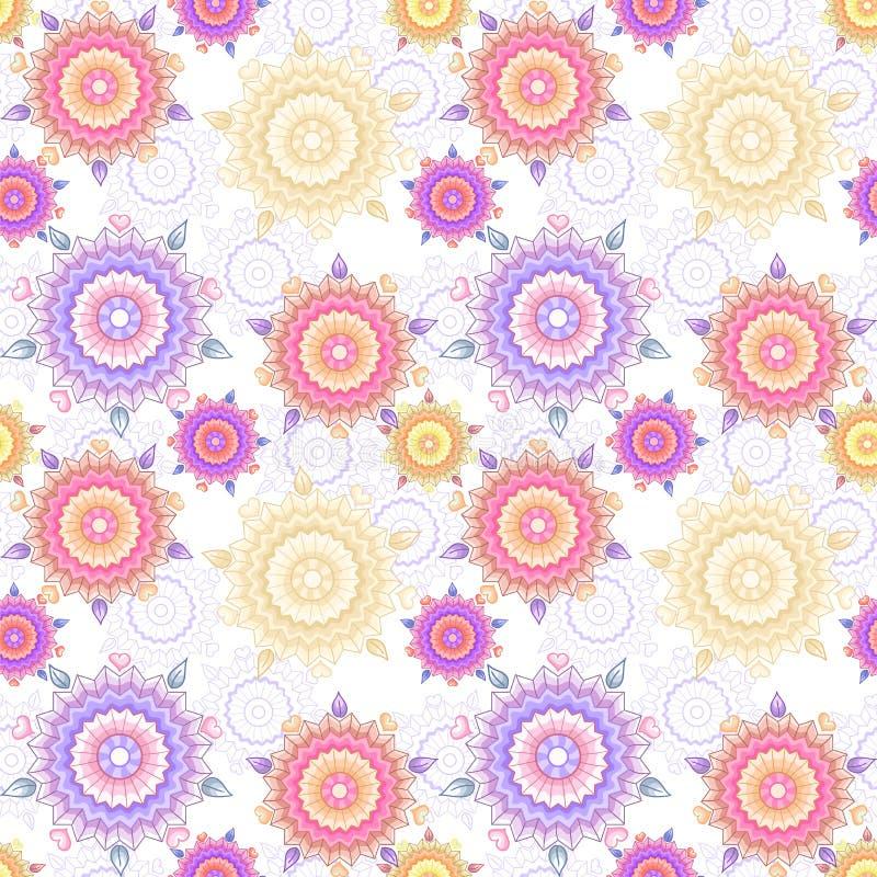 Texture sans couture des fleurs abstraites illustration de vecteur