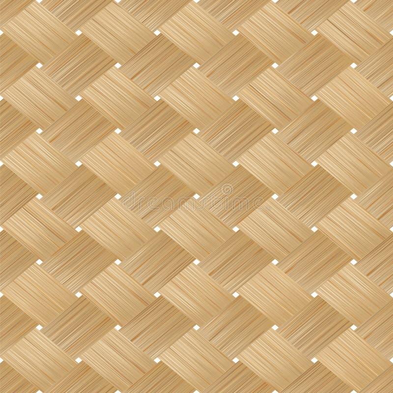 Texture sans couture en bois en bambou tissée illustration stock