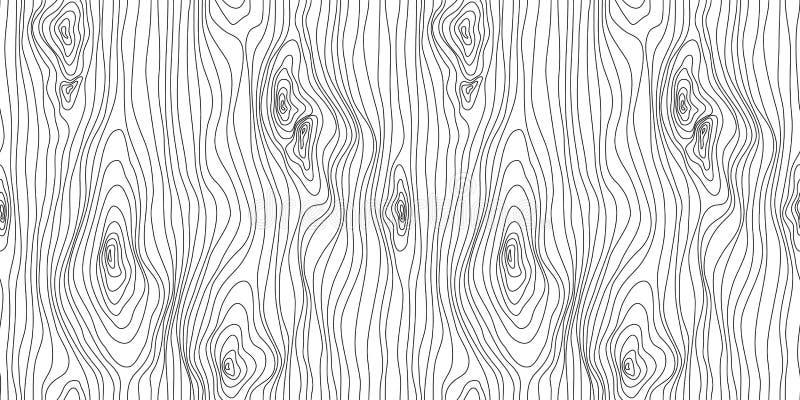 Texture sans couture en bois Mod?le en bois de grain Fond abstrait de structure de fibres, illustration de vecteur illustration stock