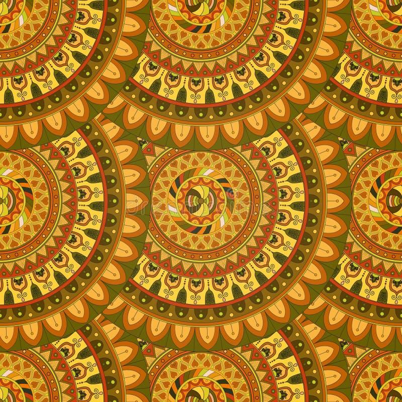 Download Texture Sans Couture Florale Fleurie, Modèle Sans Fin Avec Des éléments De Mandala De Vintage Illustration Stock - Illustration du élément, ethnique: 77153007