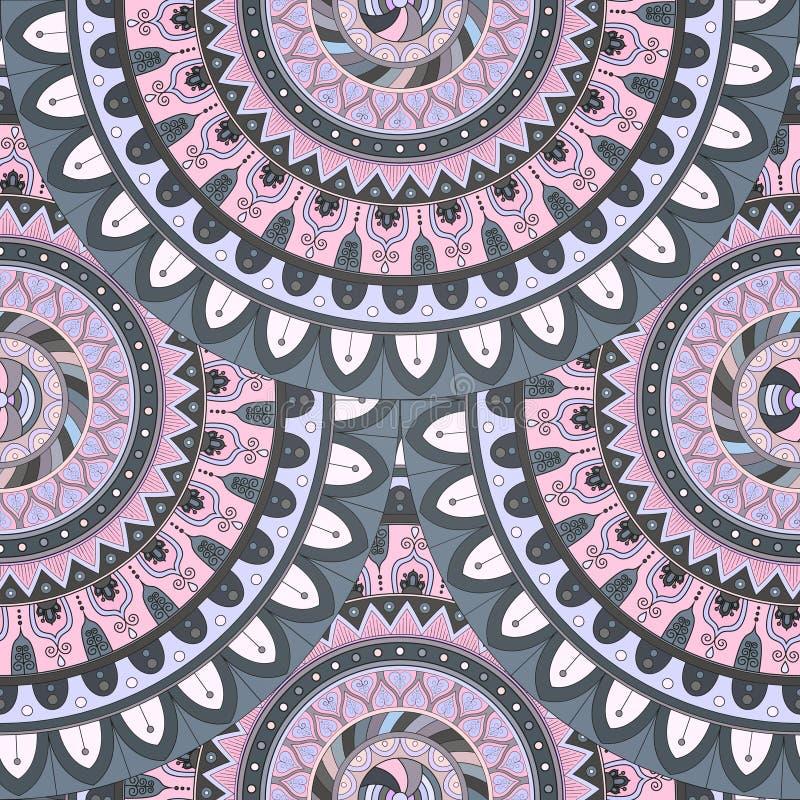 Download Texture Sans Couture Florale Fleurie, Modèle Sans Fin Avec Des éléments De Mandala De Vintage Illustration Stock - Illustration du marocain, oriental: 77153112