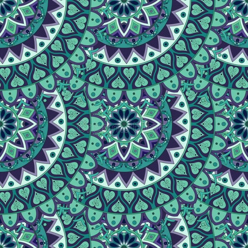 Download Texture Sans Couture Florale Fleurie, Modèle Sans Fin Avec Des éléments De Mandala De Vintage Illustration Stock - Illustration du indien, décor: 77154060