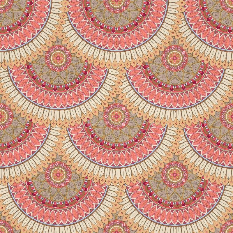 Download Texture Sans Couture Florale Fleurie, Modèle Sans Fin Avec Des éléments De Mandala De Vintage Illustration Stock - Illustration du asiatique, floral: 77154617
