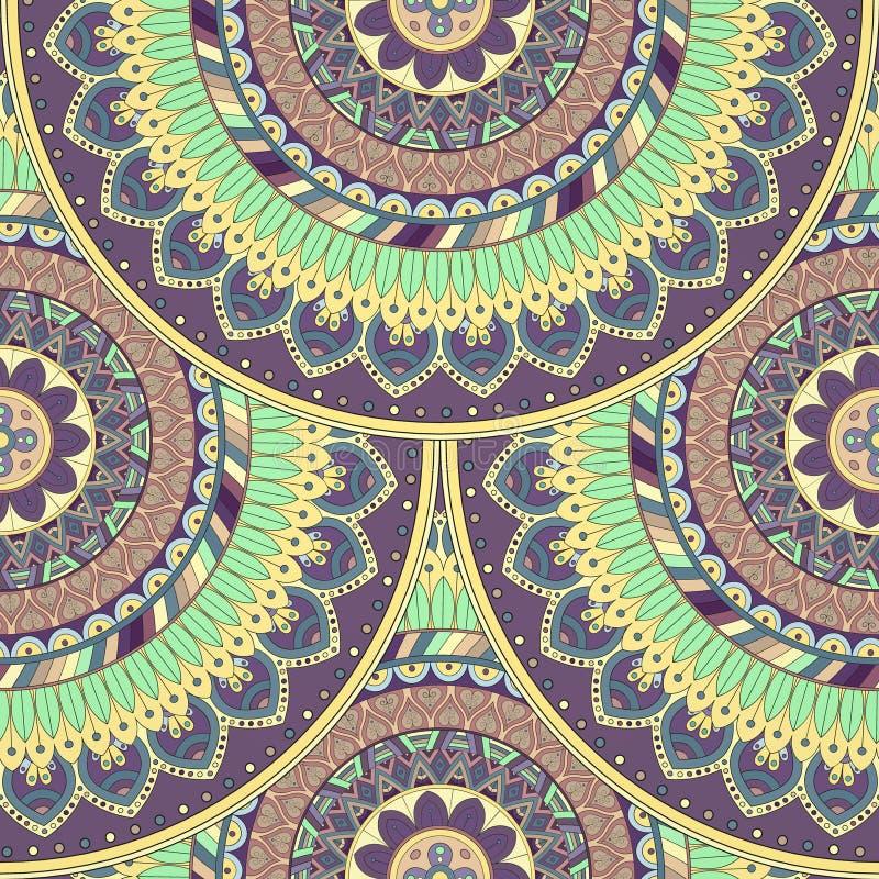 Download Texture Sans Couture Florale Fleurie, Modèle Sans Fin Avec Des éléments De Mandala De Vintage Illustration Stock - Illustration du islam, marocain: 77155115