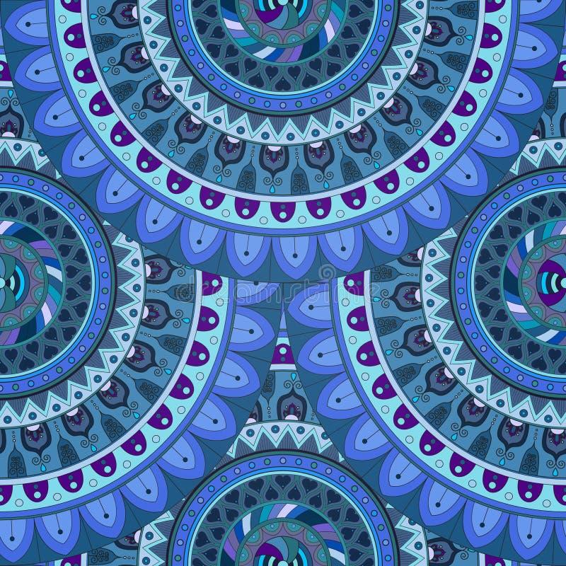 Download Texture Sans Couture Florale Fleurie, Modèle Sans Fin Avec Des éléments De Mandala De Vintage Illustration Stock - Illustration du ornement, marocain: 77155479