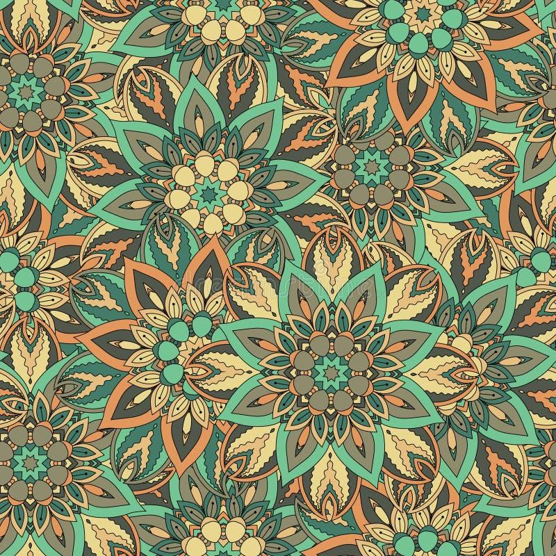 Download Texture Sans Couture Florale Fleurie, Modèle Sans Fin Avec Des éléments De Mandala De Vintage Illustration Stock - Illustration du abstrait, fleuri: 77156045