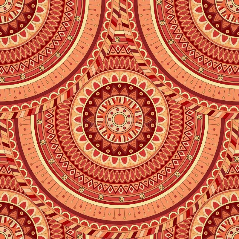 Download Texture Sans Couture Florale Fleurie, Modèle Sans Fin Avec Des éléments De Mandala De Vintage Illustration Stock - Illustration du chinois, dessin: 77156295