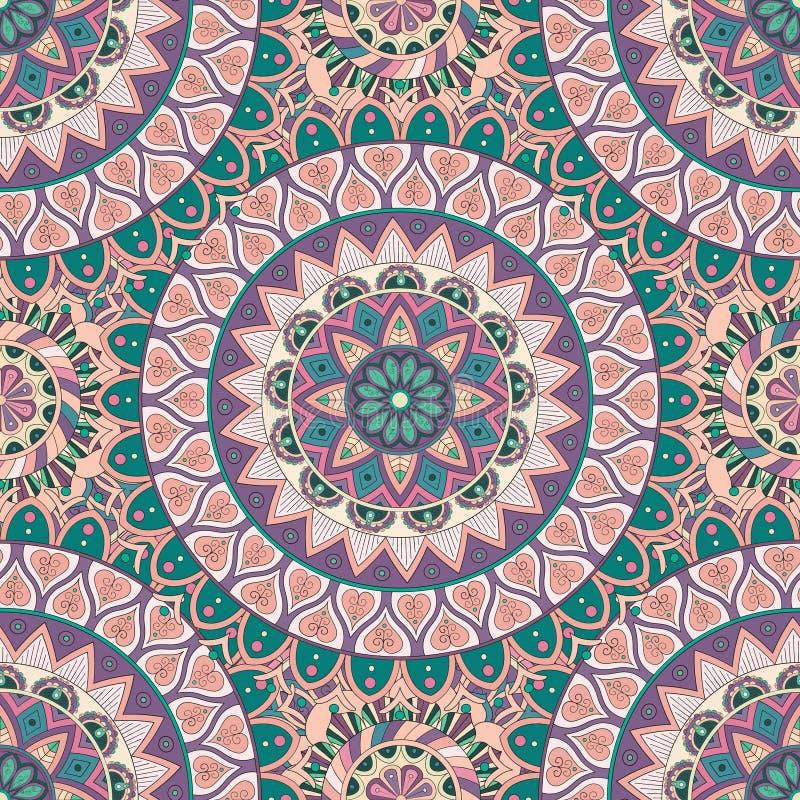 Download Texture Sans Couture Florale Fleurie, Modèle Sans Fin Avec Des éléments De Mandala De Vintage Illustration Stock - Illustration du contexte, concept: 77156740