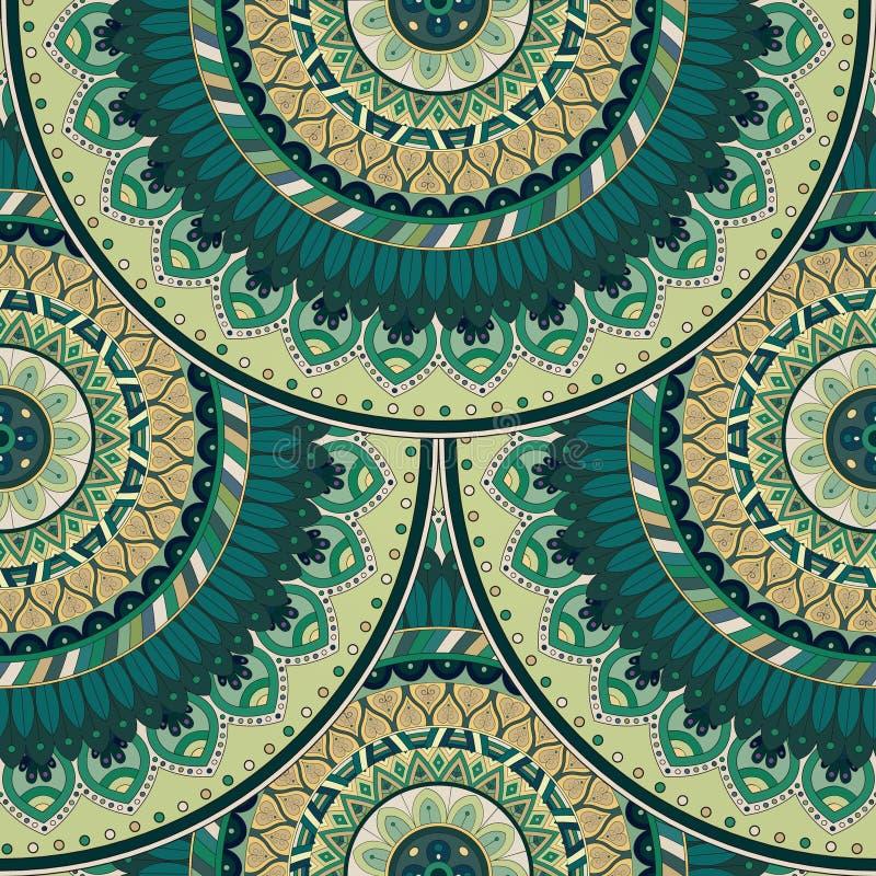Download Texture Sans Couture Florale Fleurie, Modèle Sans Fin Avec Des éléments De Mandala De Vintage Illustration Stock - Illustration du asiatique, décoration: 77157143