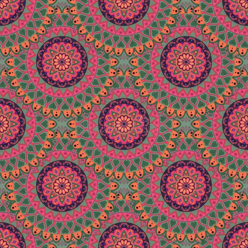 Download Texture Sans Couture Florale Fleurie, Modèle Sans Fin Avec Des éléments De Mandala De Vintage Illustration Stock - Illustration du conception, floral: 77157264