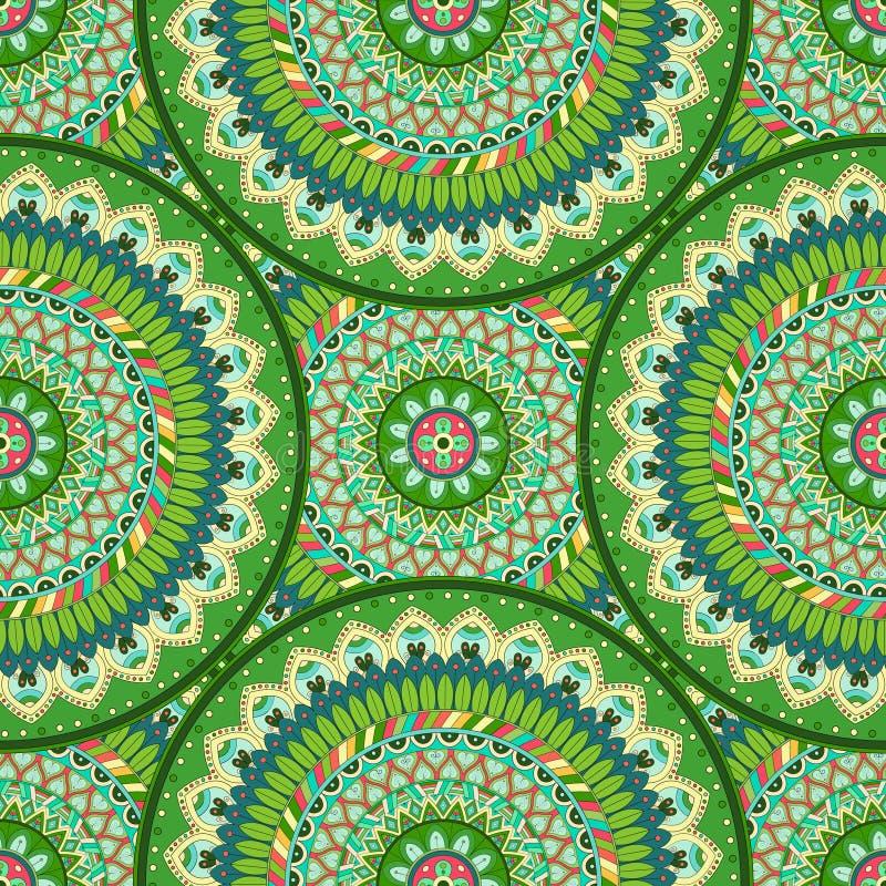 Download Texture Sans Couture Florale Fleurie, Modèle Sans Fin Avec Des éléments De Mandala De Vintage Illustration Stock - Illustration du asiatique, concept: 77157828
