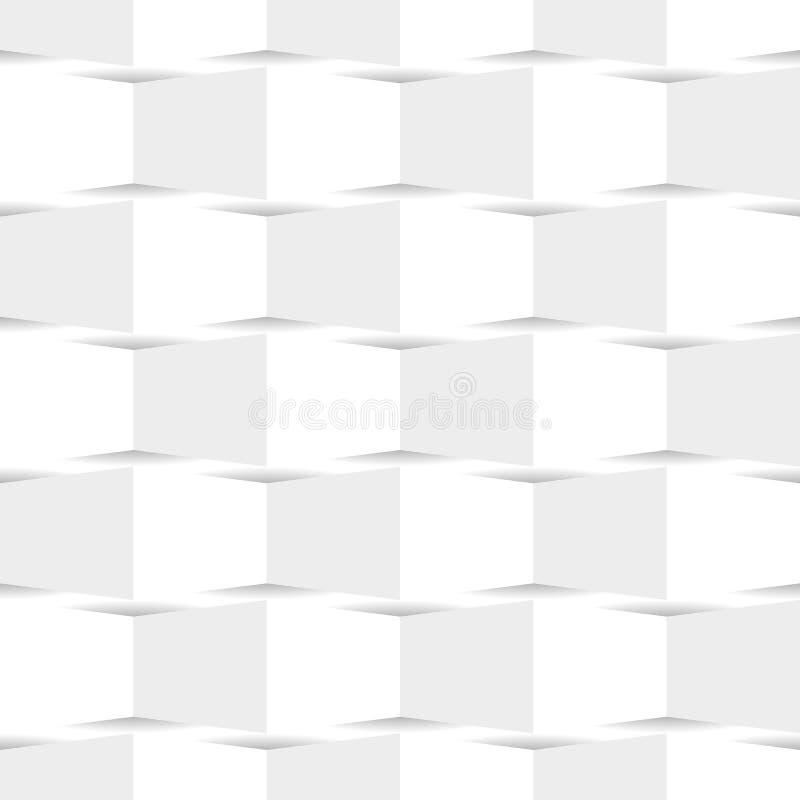 Texture sans couture géométrique blanche, illustration de vecteur illustration stock