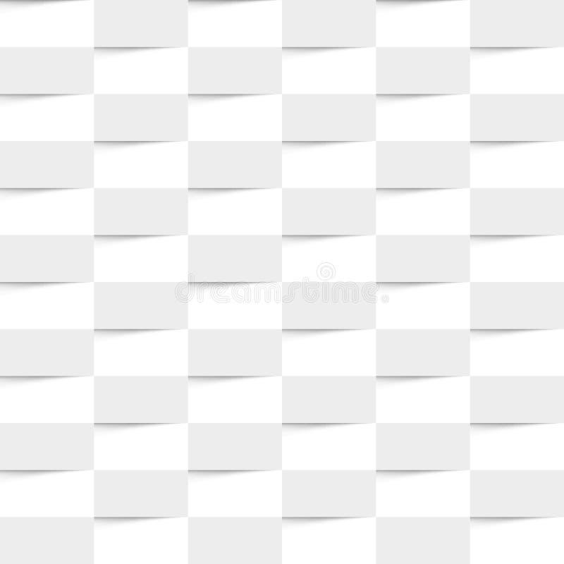 Texture sans couture géométrique blanche, illustration de vecteur illustration de vecteur