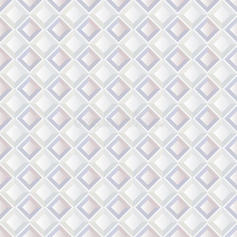 Texture sans couture geomeetric blanche abstraite illustration stock