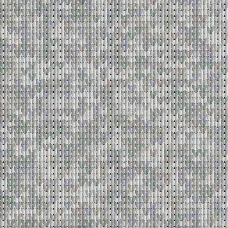 Texture sans couture grise des tissus tricotés illustration libre de droits