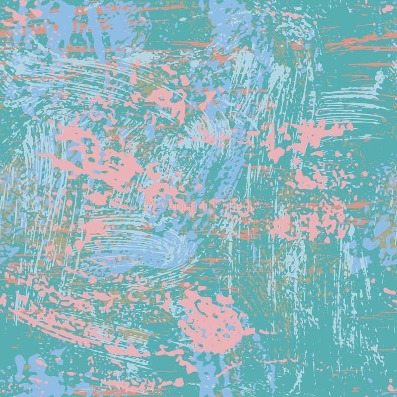 Texture sans couture minable grunge dans le bleu et le rose illustration libre de droits