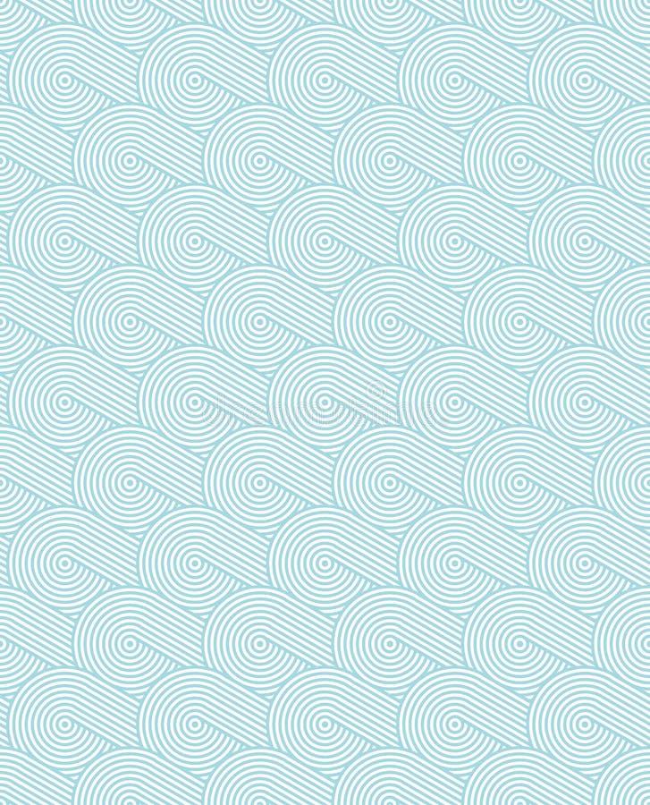 Texture sans couture onduleuse monochrome avec les cercles concentriques Répétition du modèle géométrique illustration libre de droits